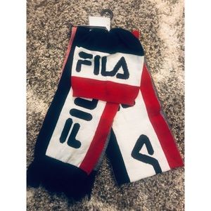 FILA Knit Hat & Scarf 2 Piece Collection
